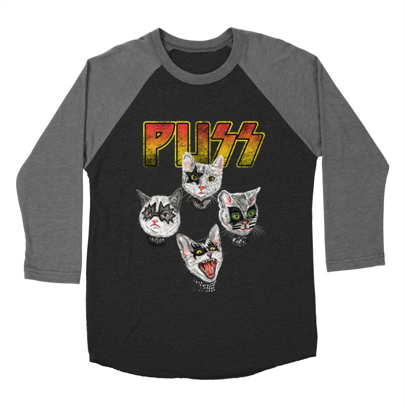 PUSS Women's Baseball Triblend Longsleeve T-Shirt by kooky love's Artist Shop