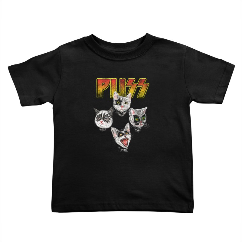 PUSS Kids Toddler T-Shirt by kooky love's Artist Shop
