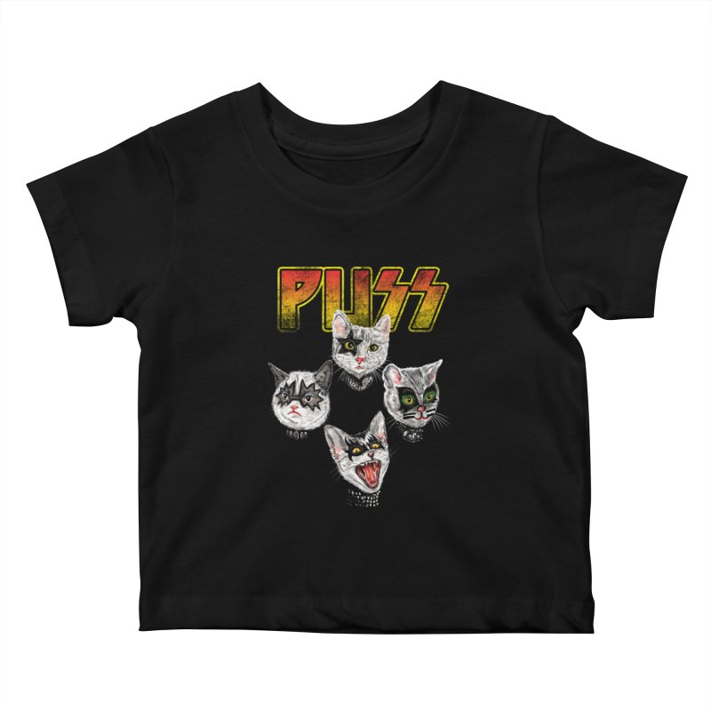 PUSS Kids Baby T-Shirt by kooky love's Artist Shop