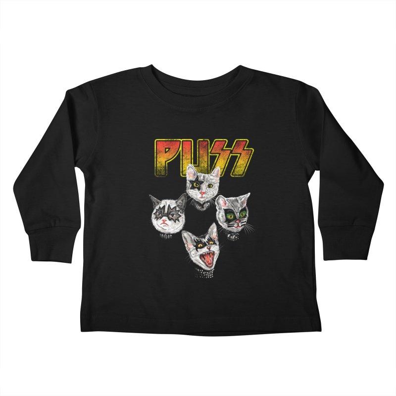 PUSS Kids Toddler Longsleeve T-Shirt by kooky love's Artist Shop