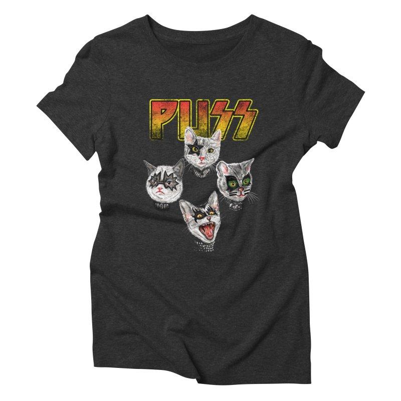 PUSS Women's Triblend T-Shirt by kooky love's Artist Shop