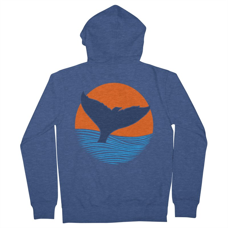 Wings & Tail Men's French Terry Zip-Up Hoody by kooky love's Artist Shop