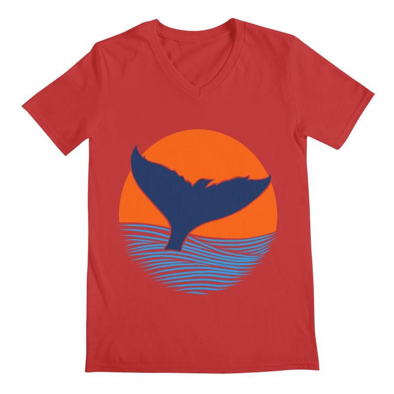 Wings & Tail Men's Regular V-Neck by kooky love's Artist Shop