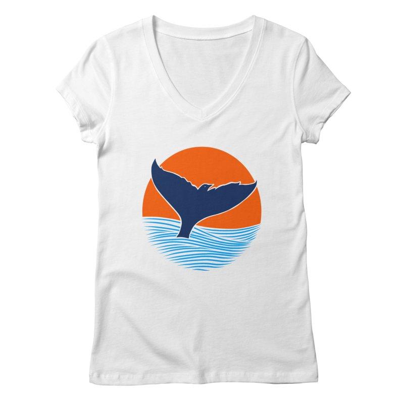 Wings & Tail Women's Regular V-Neck by kooky love's Artist Shop