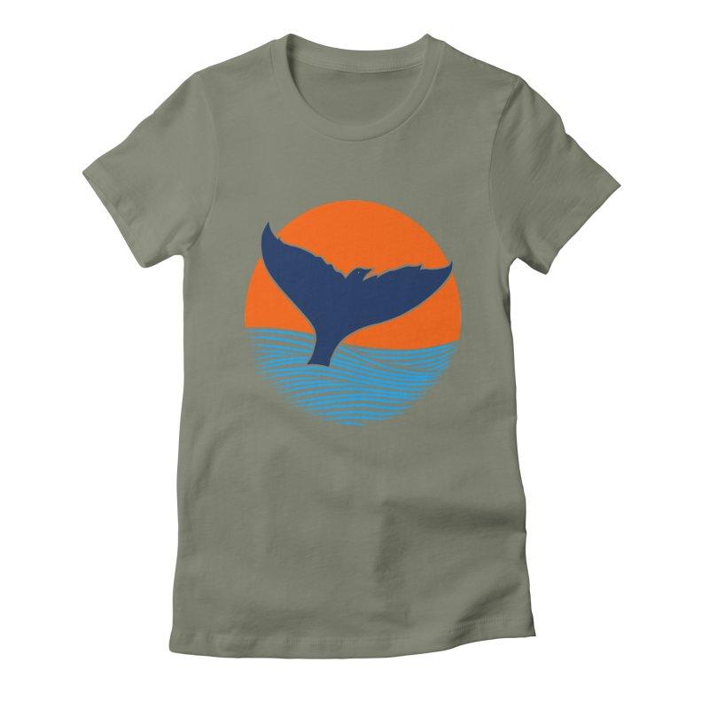Wings & Tail Women's Fitted T-Shirt by kooky love's Artist Shop