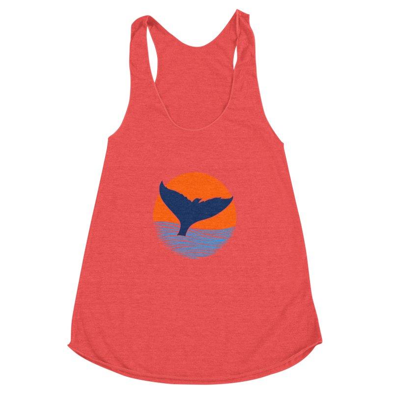 Wings & Tail Women's Racerback Triblend Tank by kooky love's Artist Shop