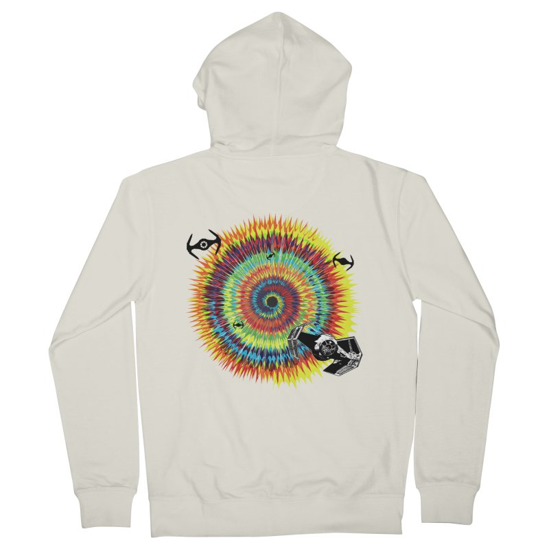 Tie Dye Men's French Terry Zip-Up Hoody by kooky love's Artist Shop