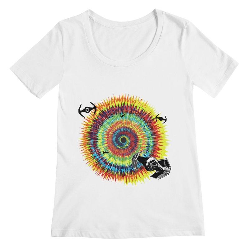 Tie Dye Women's Regular Scoop Neck by kooky love's Artist Shop
