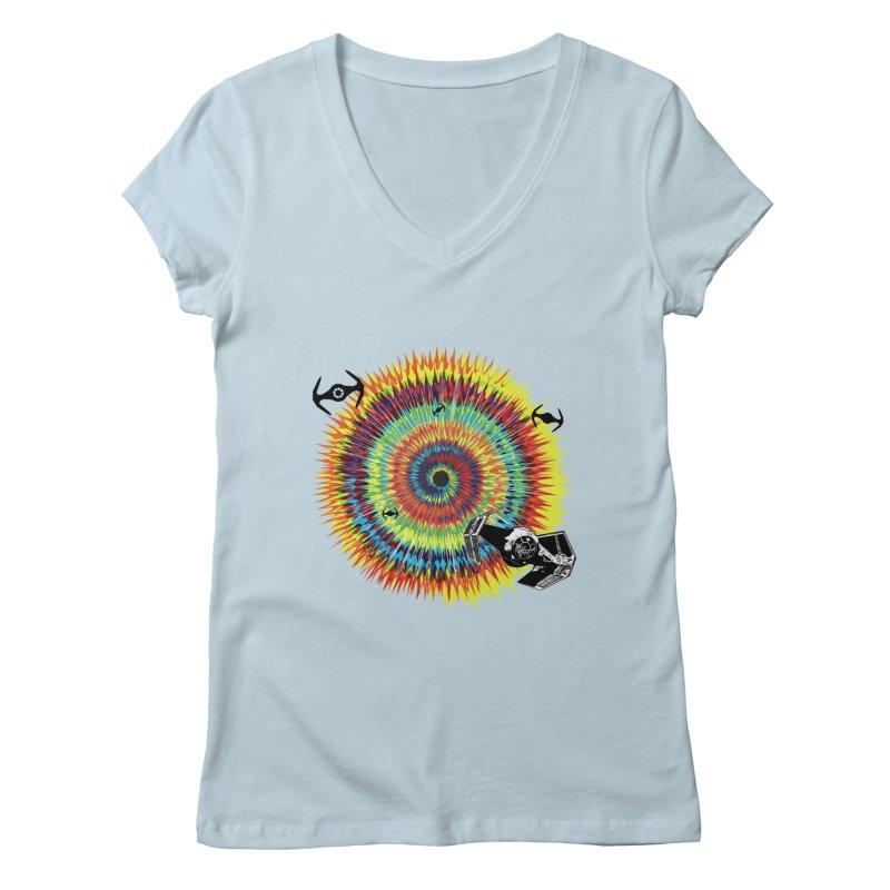 Tie Dye Women's V-Neck by kooky love's Artist Shop