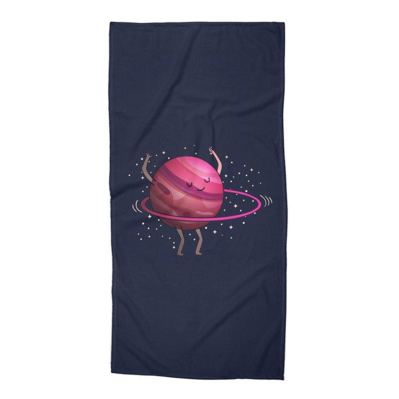 Hula Hoop Accessories Beach Towel by kooky love's Artist Shop