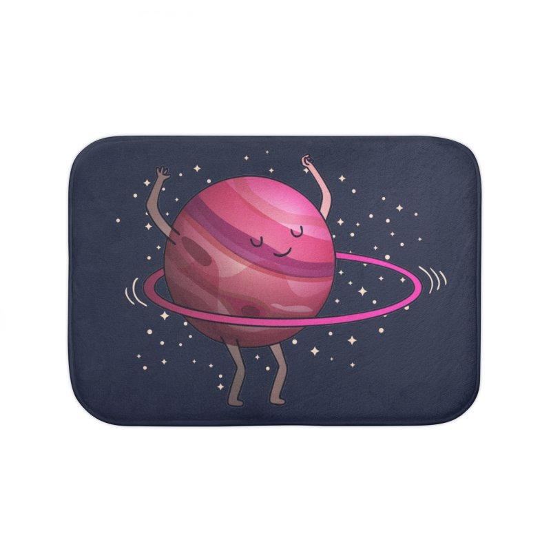 Hula Hoop Home Bath Mat by kooky love's Artist Shop