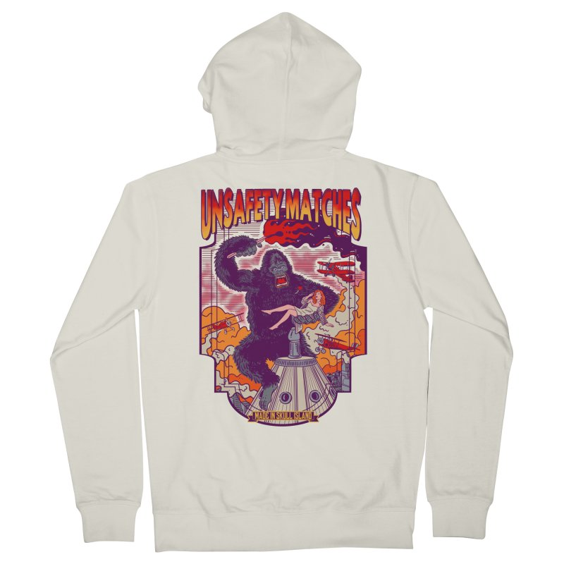 UNSAFETY MATCHES Women's French Terry Zip-Up Hoody by kooky love's Artist Shop