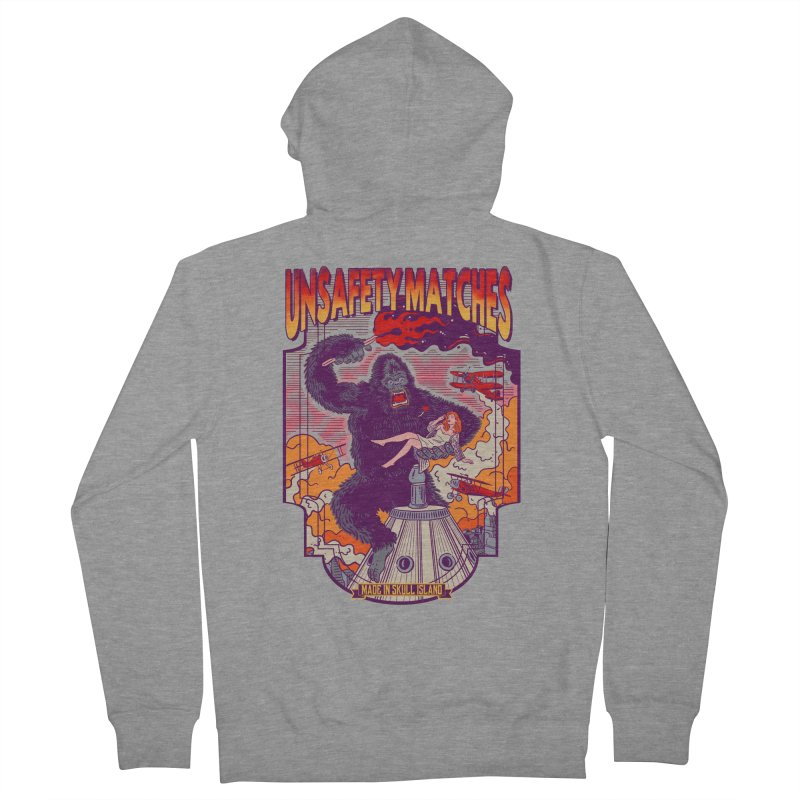 UNSAFETY MATCHES Men's French Terry Zip-Up Hoody by kooky love's Artist Shop