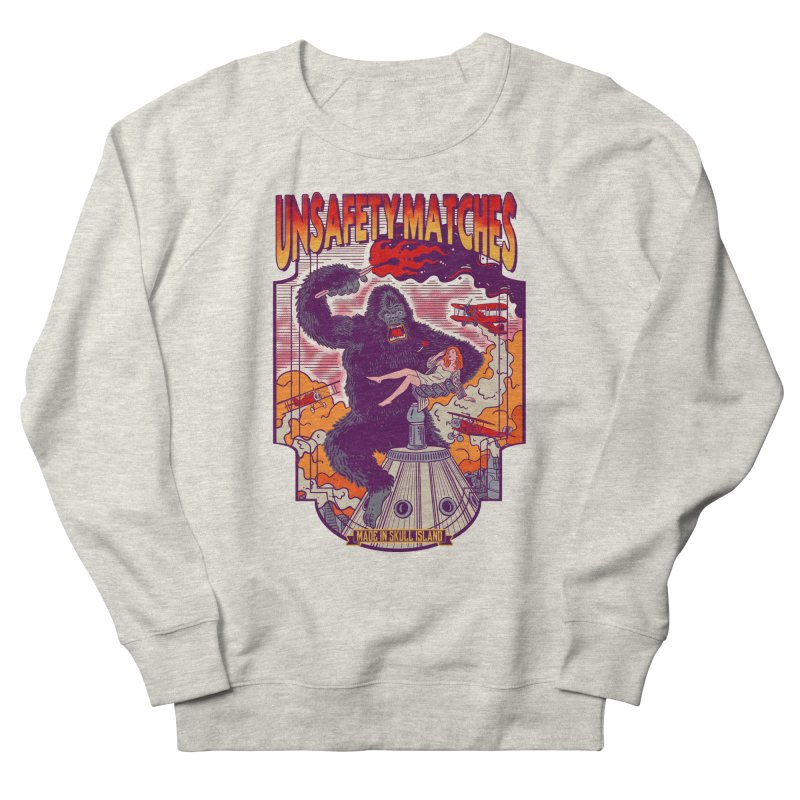 UNSAFETY MATCHES Men's French Terry Sweatshirt by kooky love's Artist Shop