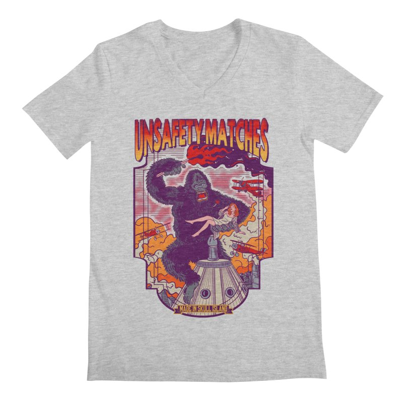 UNSAFETY MATCHES Men's Regular V-Neck by kooky love's Artist Shop