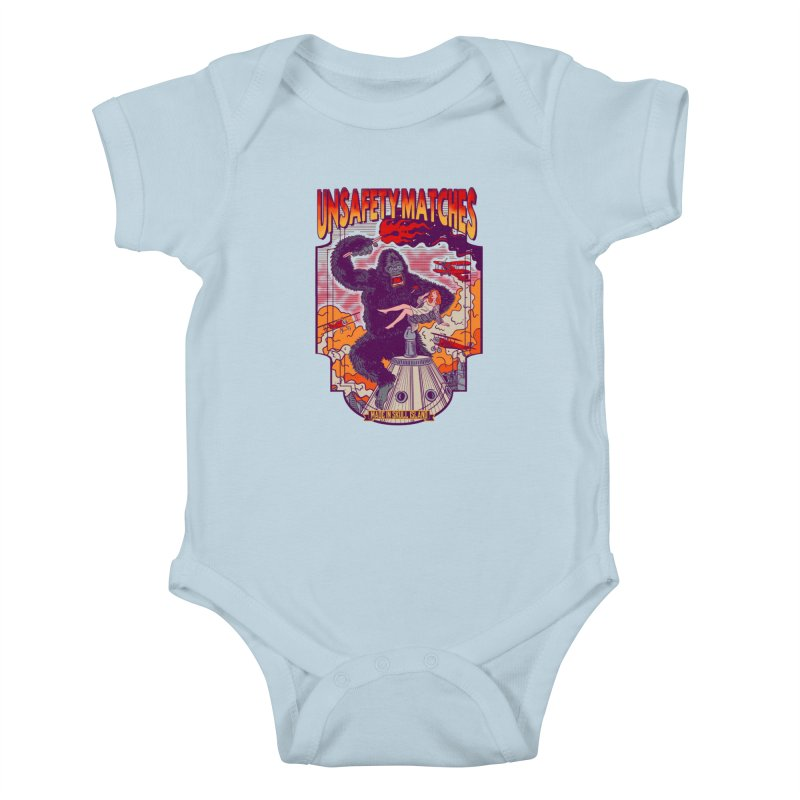 UNSAFETY MATCHES Kids Baby Bodysuit by kooky love's Artist Shop