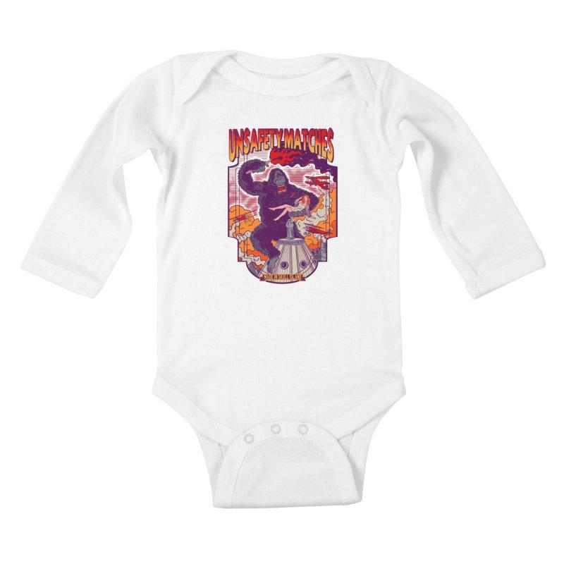 UNSAFETY MATCHES Kids Baby Longsleeve Bodysuit by kooky love's Artist Shop