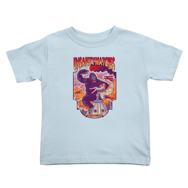 UNSAFETY MATCHES Kids Toddler T-Shirt by kooky love's Artist Shop
