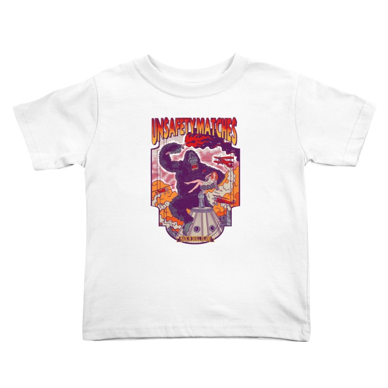UNSAFETY MATCHES Kids Toddler T-Shirt by kooky love's Artist Shop