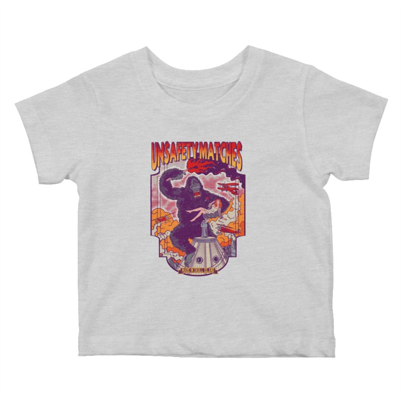 UNSAFETY MATCHES Kids Baby T-Shirt by kooky love's Artist Shop