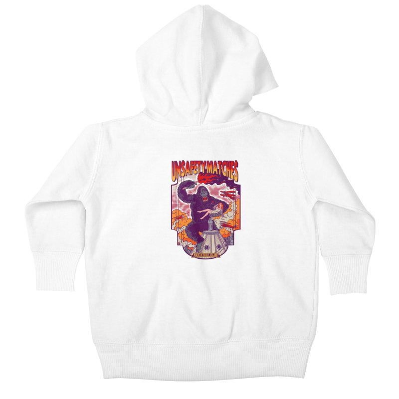 UNSAFETY MATCHES Kids Baby Zip-Up Hoody by kooky love's Artist Shop