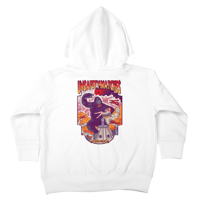 UNSAFETY MATCHES Kids Toddler Zip-Up Hoody by kooky love's Artist Shop