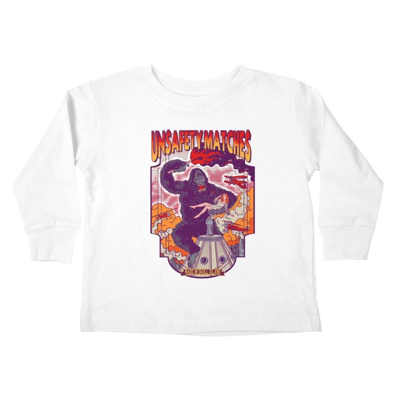 UNSAFETY MATCHES Kids Toddler Longsleeve T-Shirt by kooky love's Artist Shop