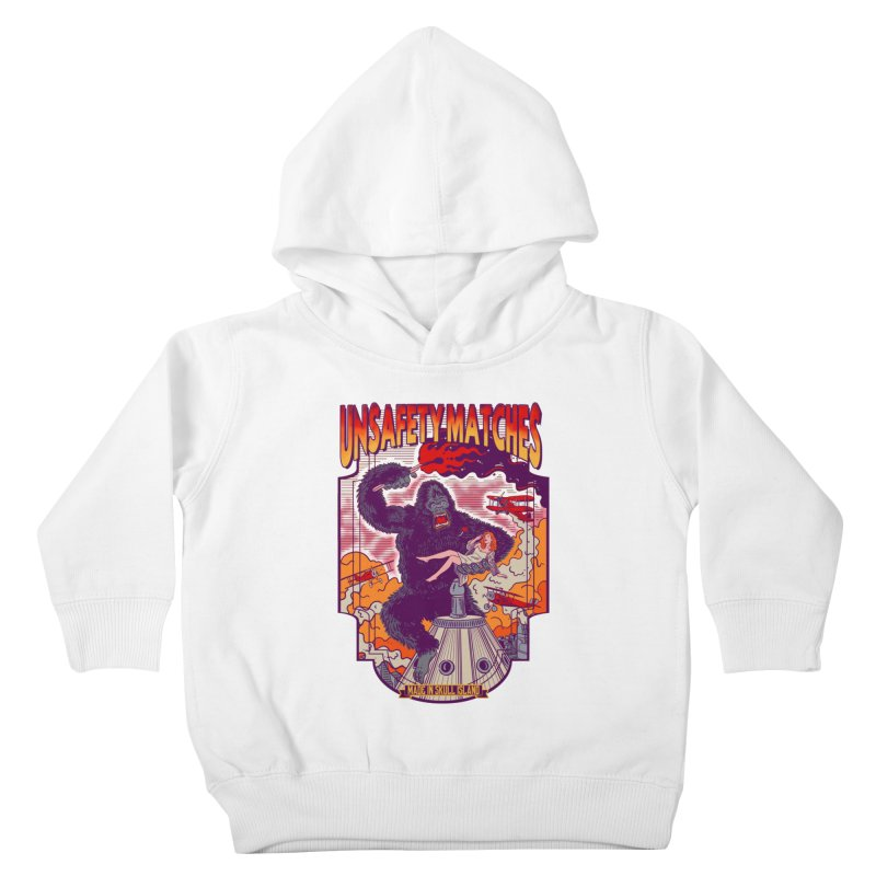 UNSAFETY MATCHES Kids Toddler Pullover Hoody by kooky love's Artist Shop