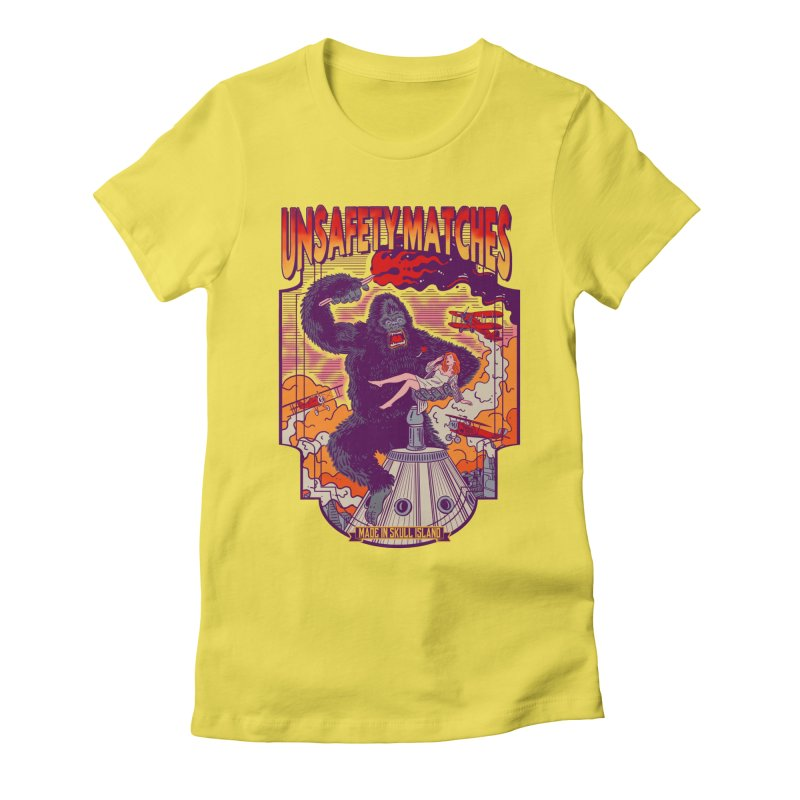 UNSAFETY MATCHES Women's Fitted T-Shirt by kooky love's Artist Shop