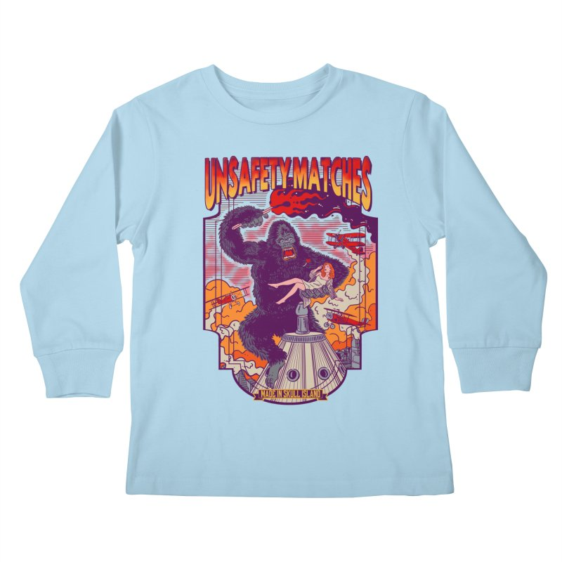 UNSAFETY MATCHES Kids Longsleeve T-Shirt by kooky love's Artist Shop