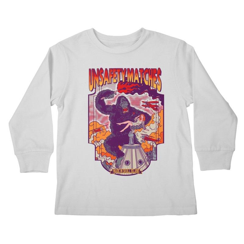 UNSAFETY MATCHES Kids Longsleeve T-Shirt by kooky love's Artist Shop