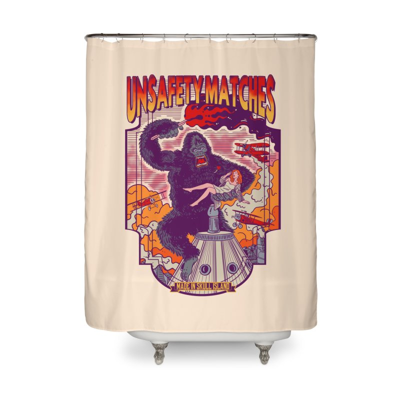 UNSAFETY MATCHES Home Shower Curtain by kooky love's Artist Shop