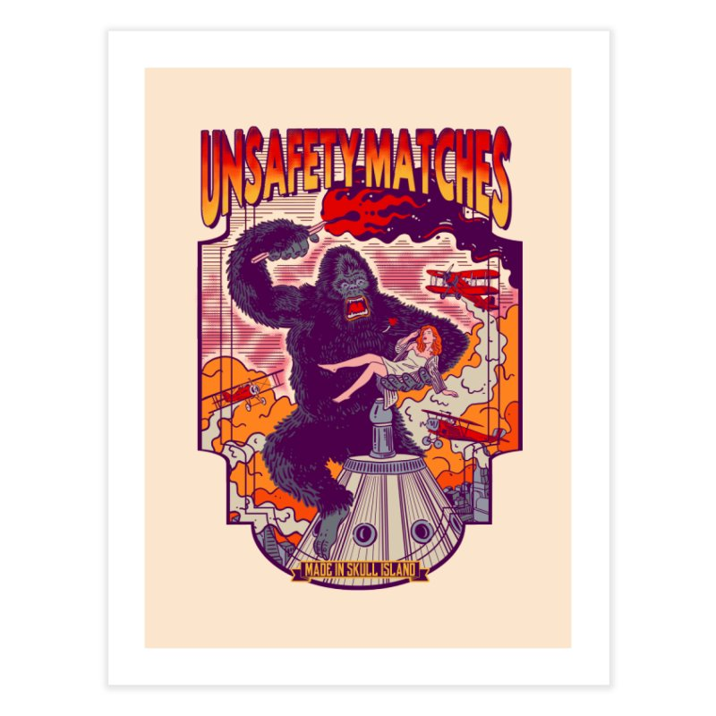 UNSAFETY MATCHES Home Fine Art Print by kooky love's Artist Shop