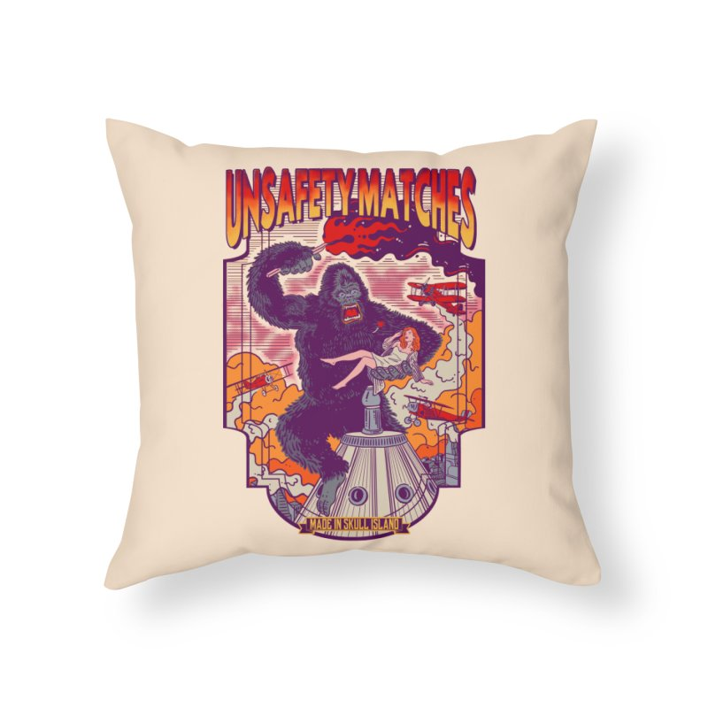 UNSAFETY MATCHES Home Throw Pillow by kooky love's Artist Shop