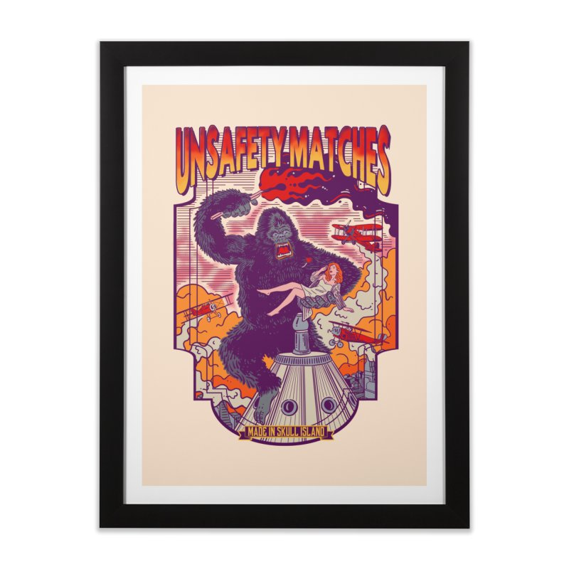 UNSAFETY MATCHES Home Framed Fine Art Print by kooky love's Artist Shop