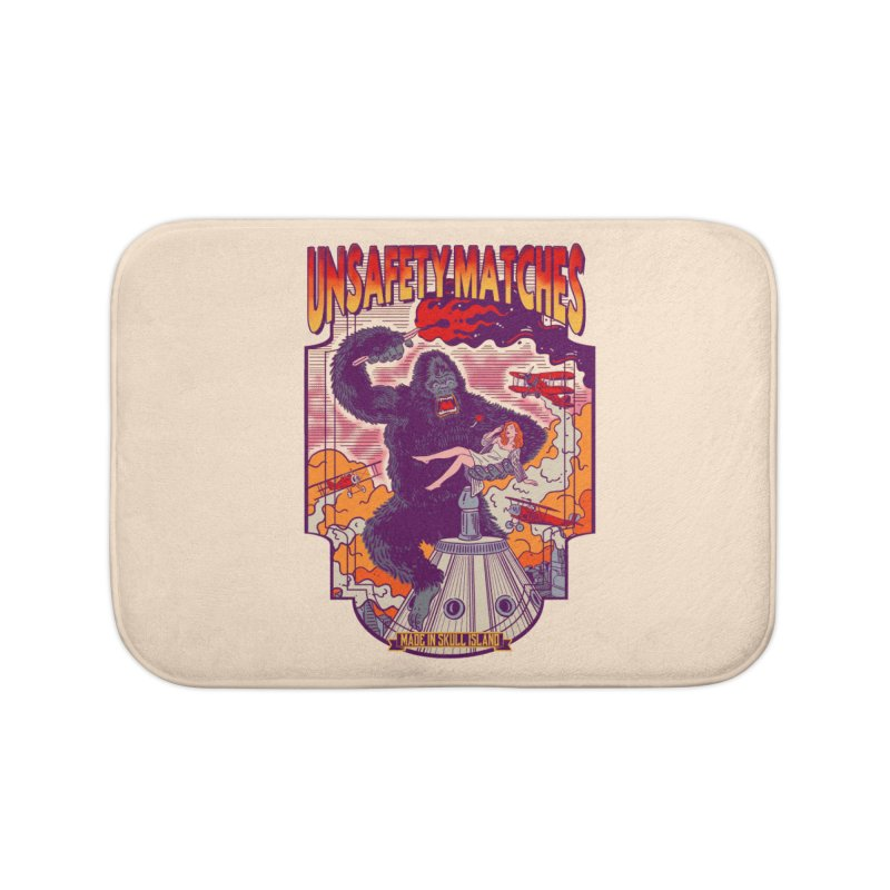 UNSAFETY MATCHES Home Bath Mat by kooky love's Artist Shop