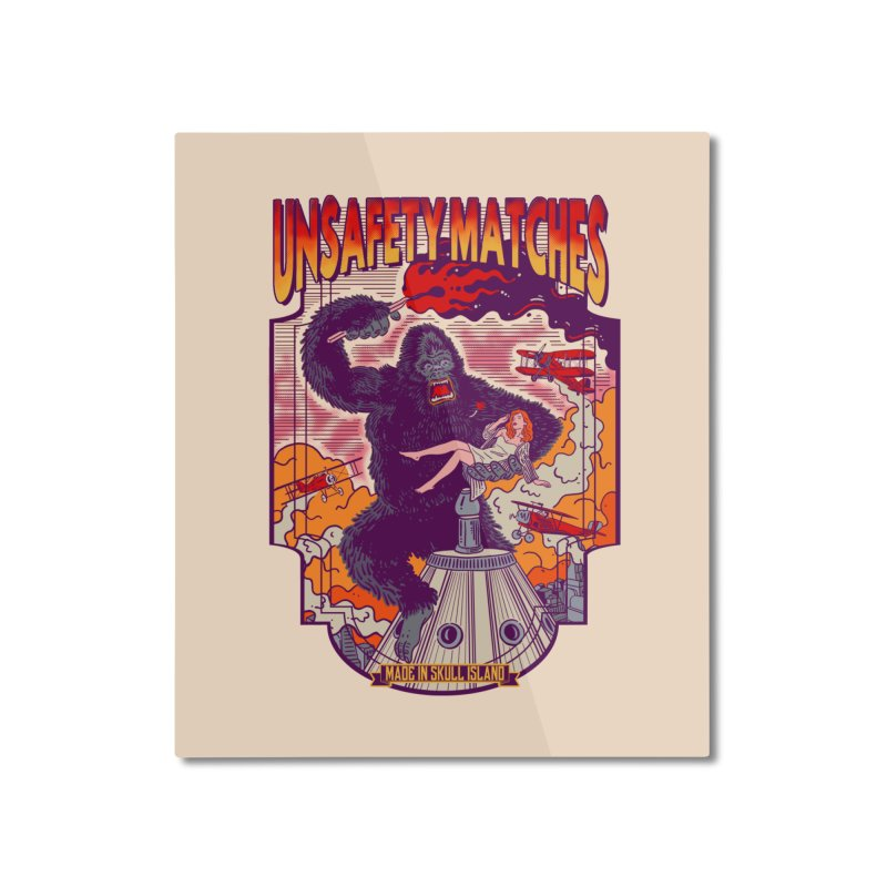 UNSAFETY MATCHES Home Mounted Aluminum Print by kooky love's Artist Shop