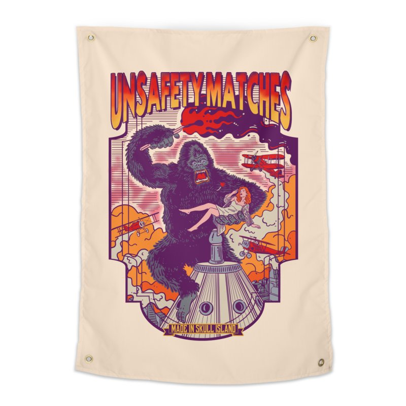 UNSAFETY MATCHES Home Tapestry by kooky love's Artist Shop