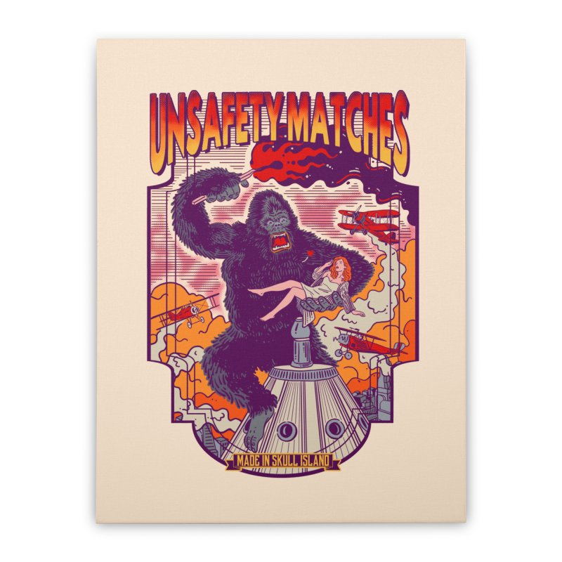 UNSAFETY MATCHES Home Stretched Canvas by kooky love's Artist Shop