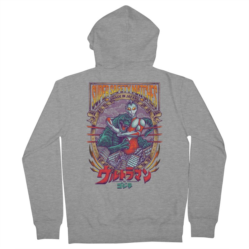 SUPER SAFETY MATCHES Men's French Terry Zip-Up Hoody by kooky love's Artist Shop