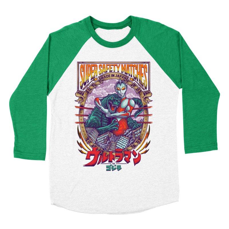SUPER SAFETY MATCHES Men's Baseball Triblend Longsleeve T-Shirt by kooky love's Artist Shop