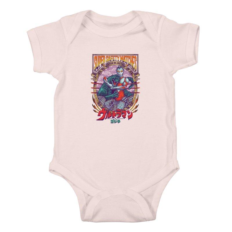 SUPER SAFETY MATCHES Kids Baby Bodysuit by kooky love's Artist Shop