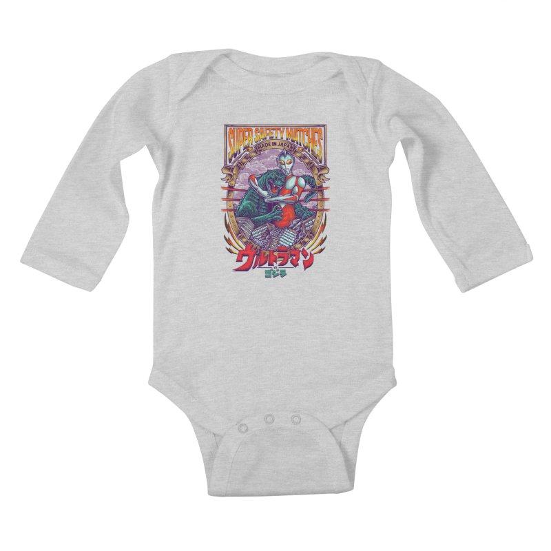SUPER SAFETY MATCHES Kids Baby Longsleeve Bodysuit by kooky love's Artist Shop