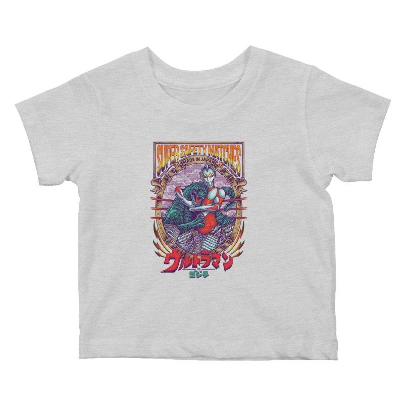 SUPER SAFETY MATCHES Kids Baby T-Shirt by kooky love's Artist Shop