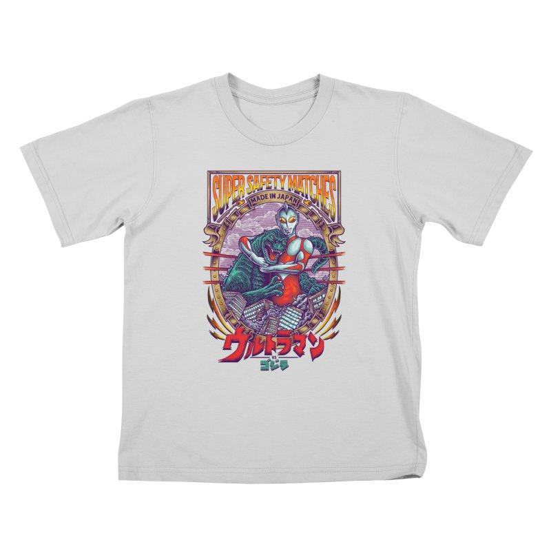 SUPER SAFETY MATCHES Kids T-Shirt by kooky love's Artist Shop