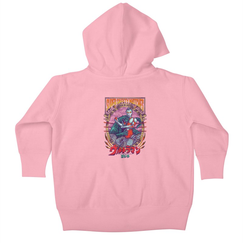 SUPER SAFETY MATCHES Kids Baby Zip-Up Hoody by kooky love's Artist Shop