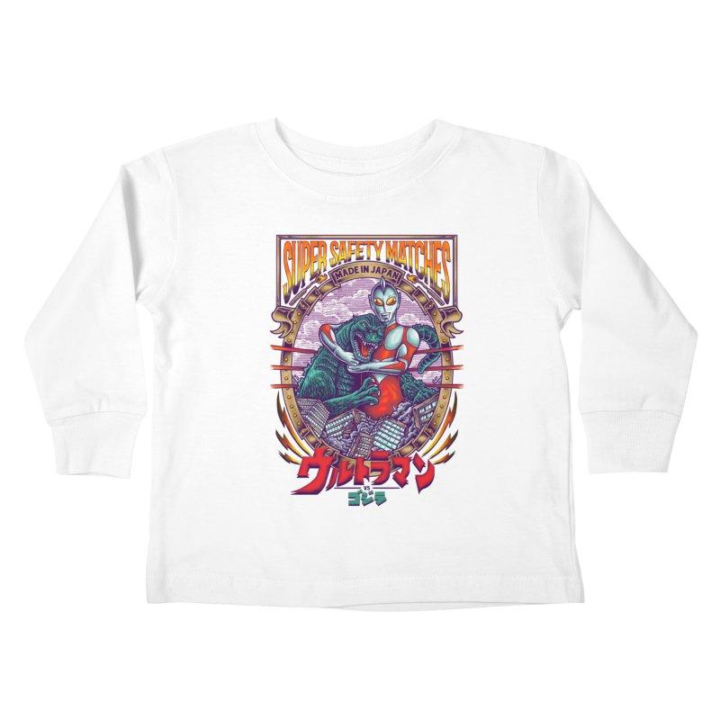 SUPER SAFETY MATCHES Kids Toddler Longsleeve T-Shirt by kooky love's Artist Shop