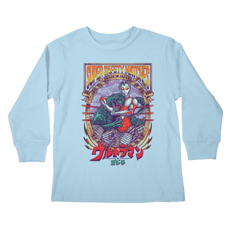 SUPER SAFETY MATCHES Kids Longsleeve T-Shirt by kooky love's Artist Shop