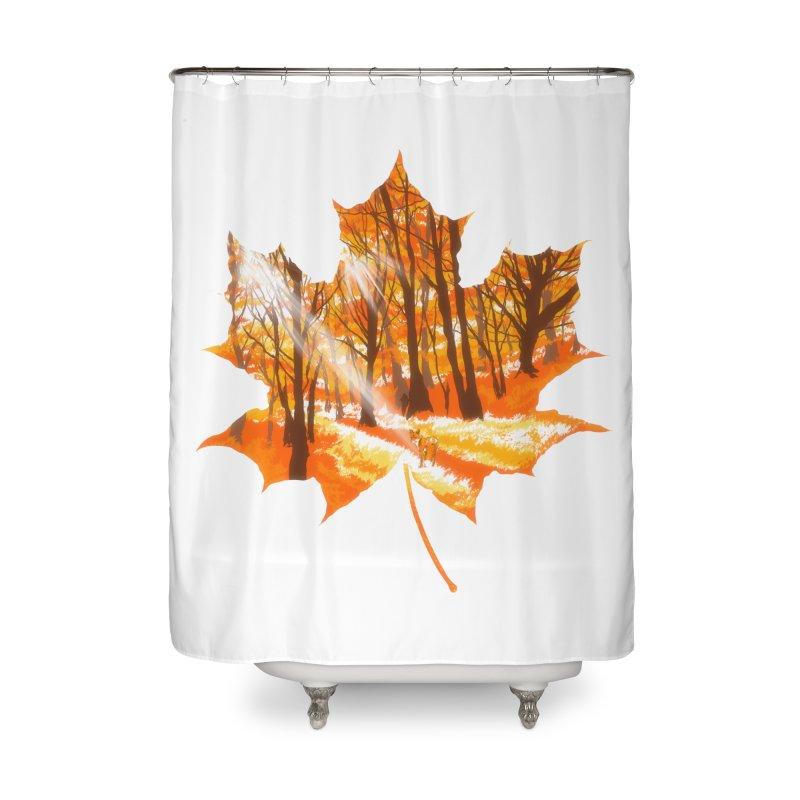 Golden Alley Home Shower Curtain by kooky love's Artist Shop