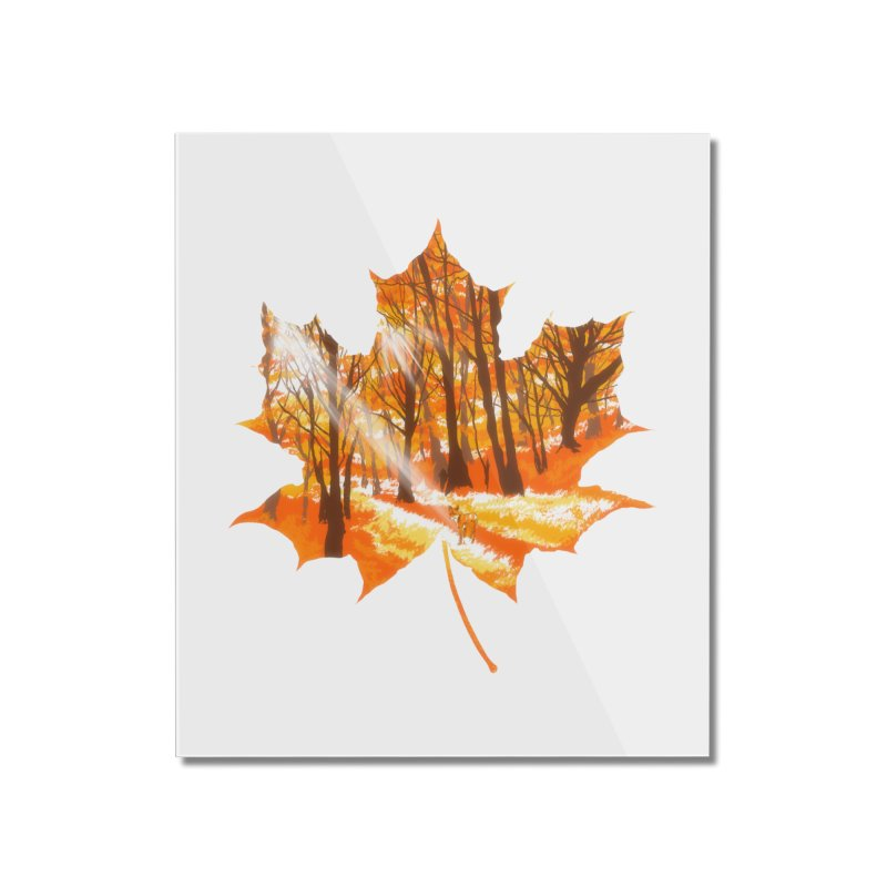 Golden Alley Home Mounted Acrylic Print by kooky love's Artist Shop